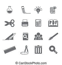 tools learning  icon set 5