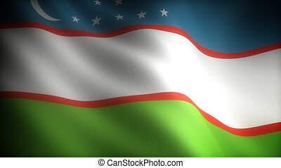 Flag of Uzbekistan seamless