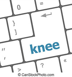 knee word on computer keyboard keys