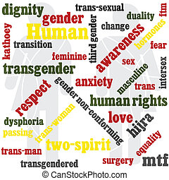 transgender word graphic - a word graphic with a...