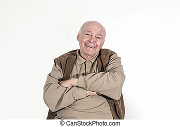 elderly retired man - portrait of elderly retired man...