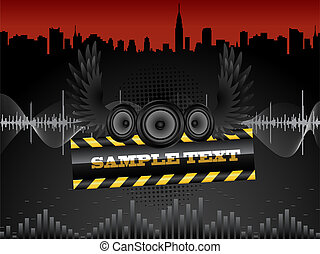 Audio speakers - Abstract background with audio speakers