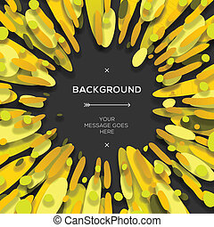Yellow modern geometrical abstract background