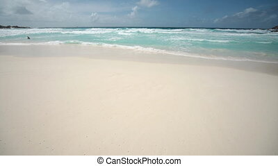 Tropical island in the Indian Ocean - nice view from a...