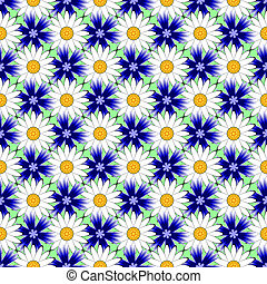 Design seamless colorful flower decorative pattern. Abstract...
