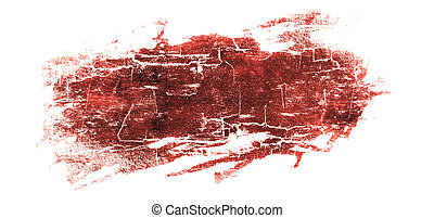 spot of blood, isolated on white