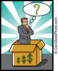 think out of the box - a concept in business
