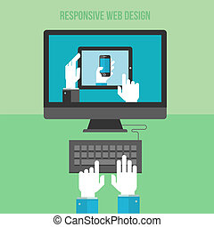 Concept for responsive web design - Flat design concept for...