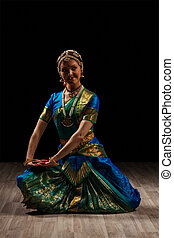 Beautiful girl dancer of Indian classical dance...