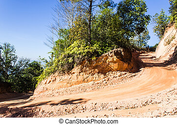 Round the bend mountain road in Thailand