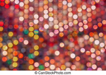 Colourful Defocussed Lights - Abstract texture with...