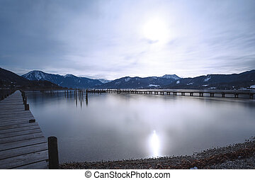 Lake Tegernsee, GER, long time exposure