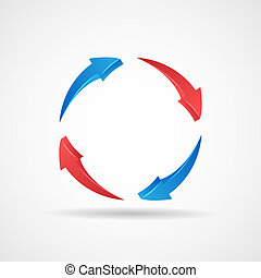 Cycle Update Symbol 3d Abstract Arrows Icon Design Template...