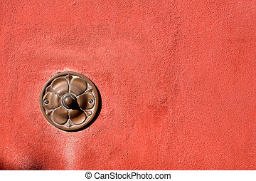 Old Doorbell on Wall - Liguria Italy - Old brass doorbell...