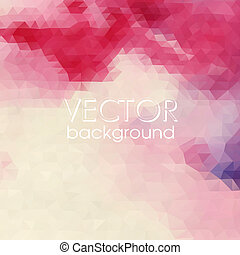 Colorful Abstract Background With Triangles.