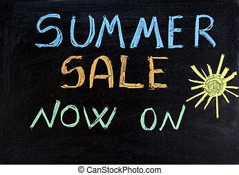 sale - Written summer sale now on on the blackboard