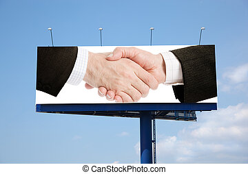 handshake - made from my images and photos, business...
