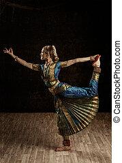 Indian dance Bharatanatyam exponent - Vintage retro style...