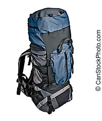 Trekking backpack isolated - Trekking backpack (rucksack)...
