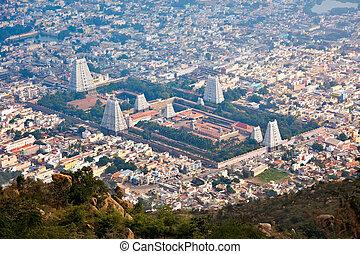 Town Tiruvannamalai, Tamil Nadu, India - Town Tiruvannamalai...