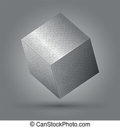vector illustration of cube