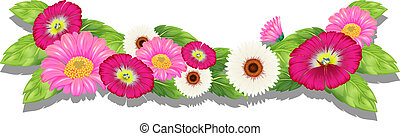 Colourful fresh flowers - Illustration of the colourful...