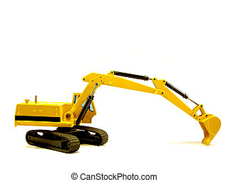 hydraulic excavator... - miniature hydraulic excavator on...