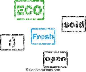 Vector Set of Retro Stamps