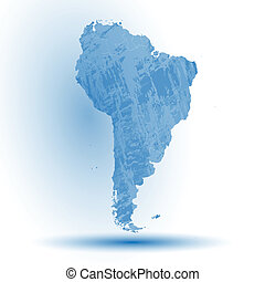 South America map background vector