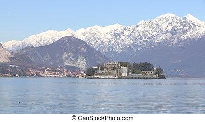 Island on Lake Maggiore - Island on lake Maggiore in Italy,...