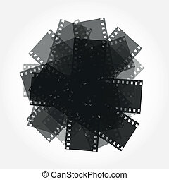 trimming of the film vector background - trimming of the...