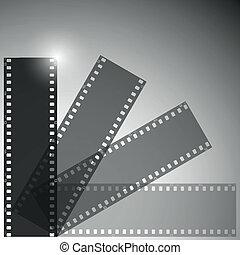 film strip vector background