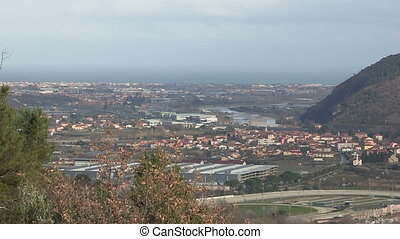 Panoramic view of Albenga - Panoramic view of countryside...