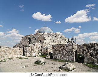 The old Umayyad Palace, one of the well-preserved buildings...
