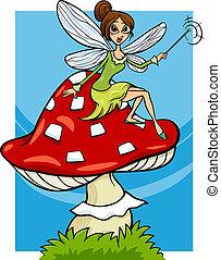 elf fairy fantasy cartoon illustration