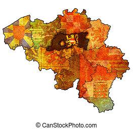 flemish brabant on map of belgium - flemish brabant on...