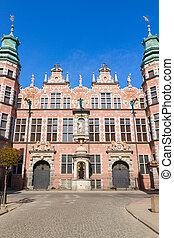 old baroque style great armory Gdansk, Poland - old baroque...