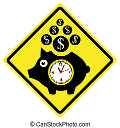 Time is Money Concept - Famous phrase used by Benjamin...