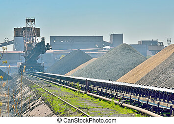 ore cargo liner for the steel-works near plant
