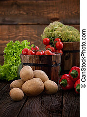 Fresh organic vegetables