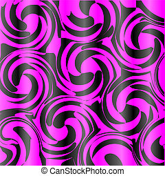 Background with spiral curls