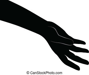 Human open palm Vector illustration for a basic design