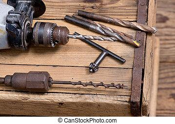 Electric Drill - a still life with electric drill in...
