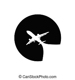 airplane vector illustration on a white background