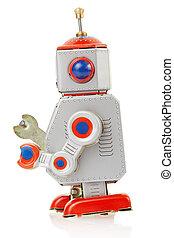 Robot vintage toy side