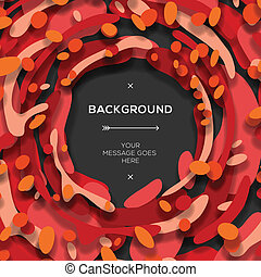 Red modern geometrical abstract background