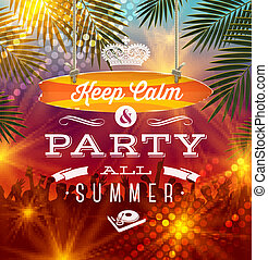 Summer vacation illustration - Summer holidays party...