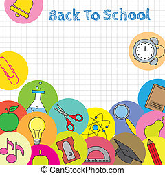 school icons card