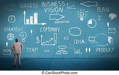 Businessman looking at Innovation plan. - Businessman...