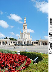 View of the Sanctuary of Fatima, in Portugal - neo-classical...